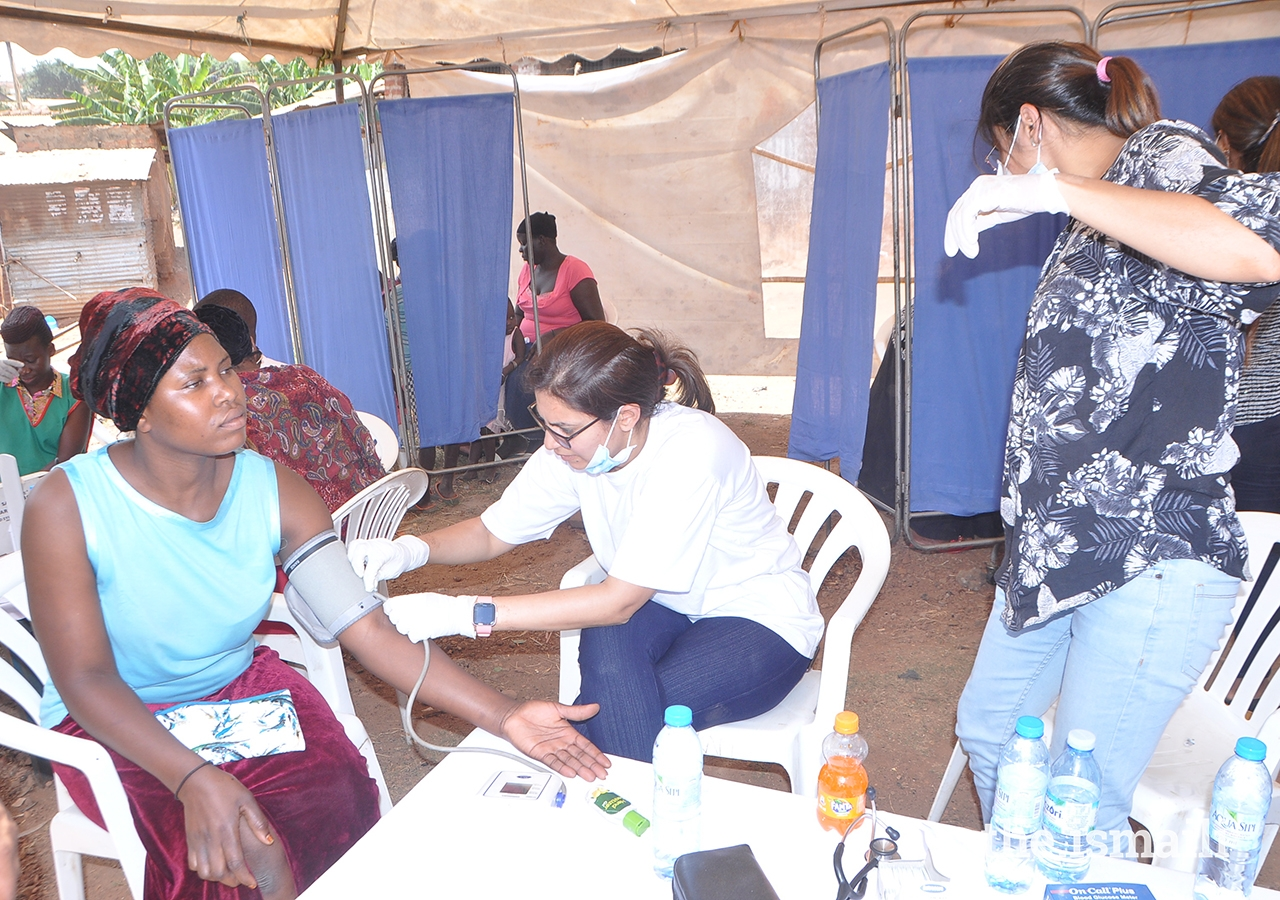Approximately 640 local participants benefited from the medical camp receiving medications for conditions such as diabetes, hypertension, allergies, and infections.