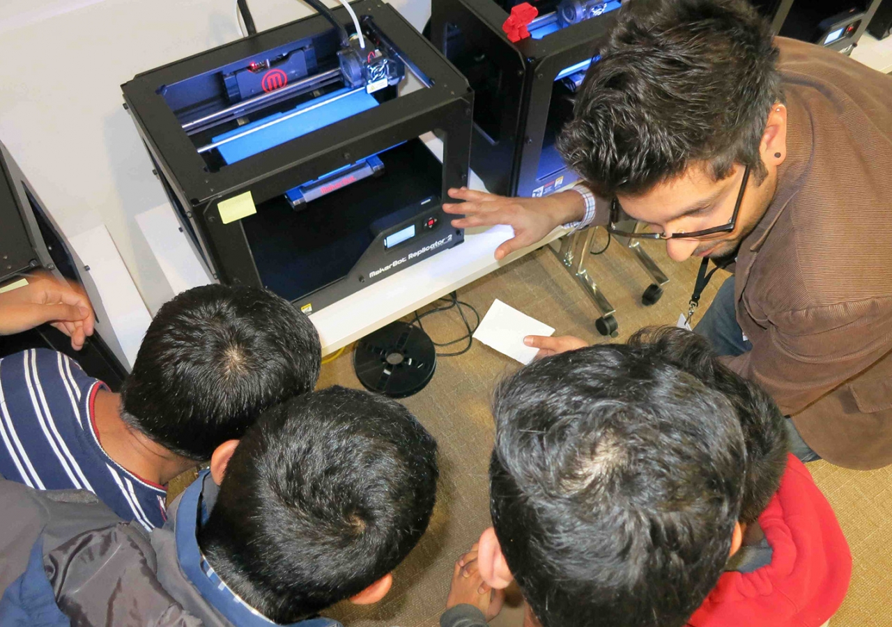 3D printers such as this one, produce an object almost instantly from a design made on a computer, much the way paper documents are printed from a word processor. Zulfikar Hirji