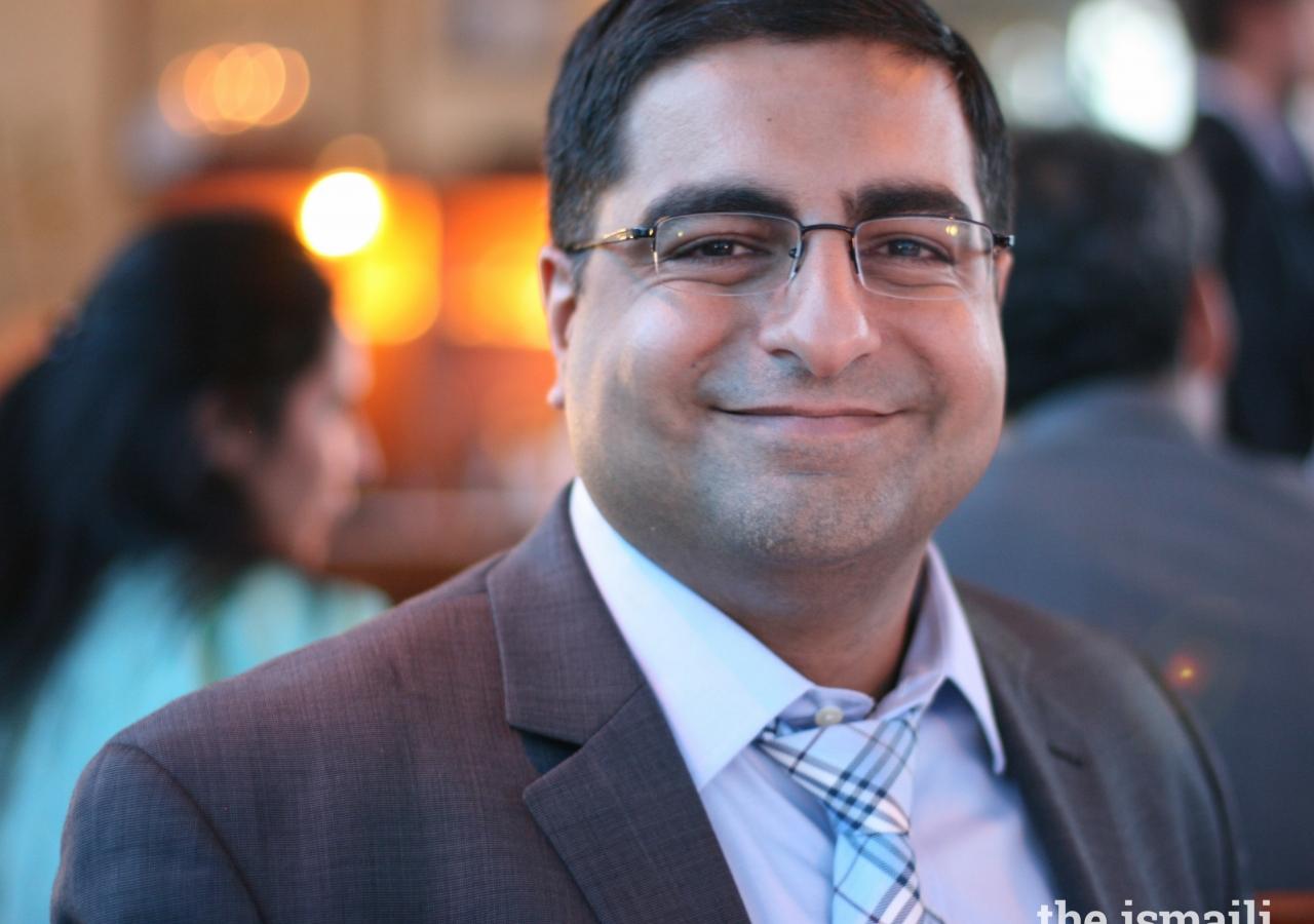 Dr. Hussein Rashid at the Ariane de Rothschild Fellowship banquet