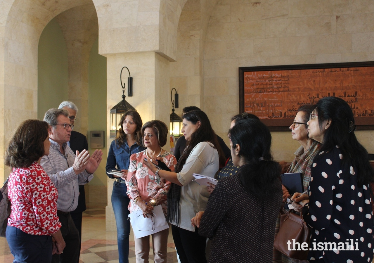 Members of the Jamat had the fortunate opportunity to participate in a rare tour of the Ismaili Centre Dubai, guided by the architects themselves.