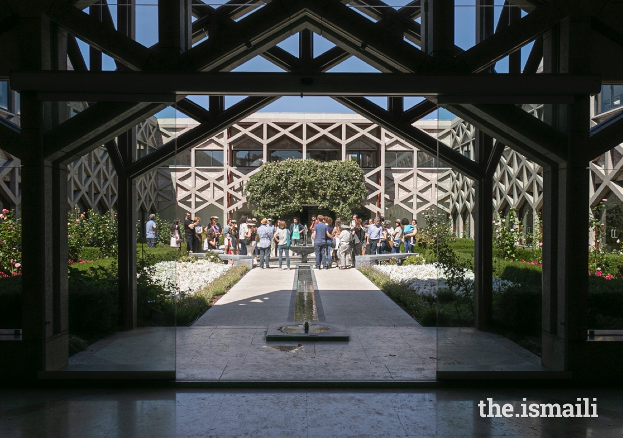 At the Ismaili Centre in Lisbon, the majority of the building's footprint is outdoors. It's gardens and fountains encourage conversation and social exchange.