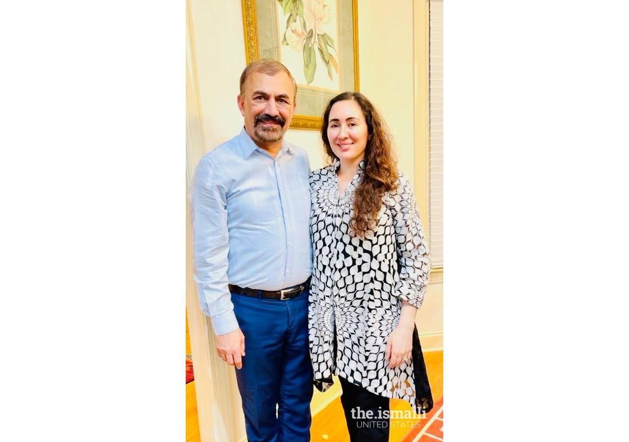 Nighat and her husband, Rooziman Shah.