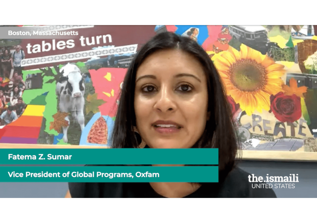 Fatema Sumar, Vice President of Global Programs at Oxfam discusses the mission of Oxfam in reducing poverty, especially for women and girls across the globe.
