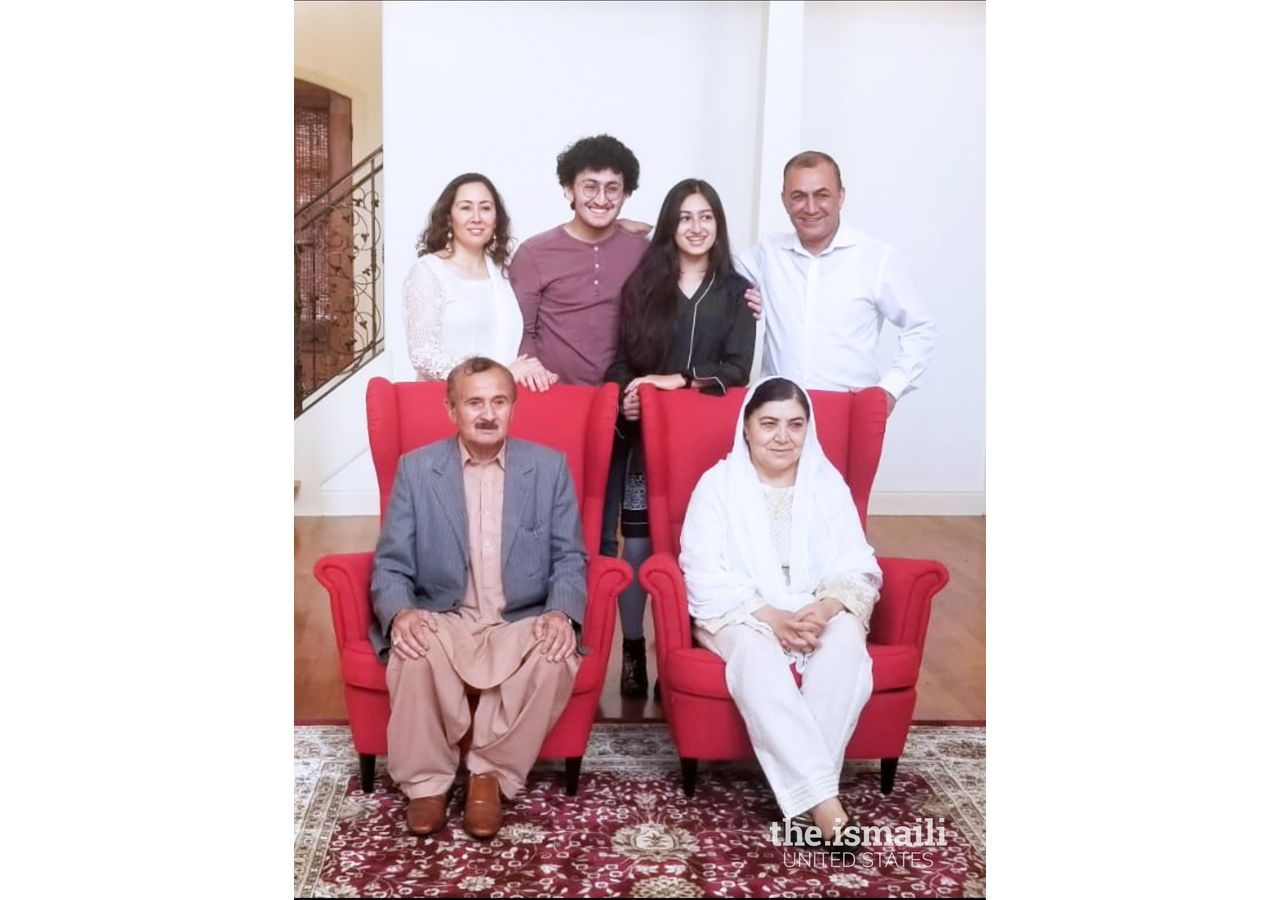 Nighat Shah with her family in Memphis.