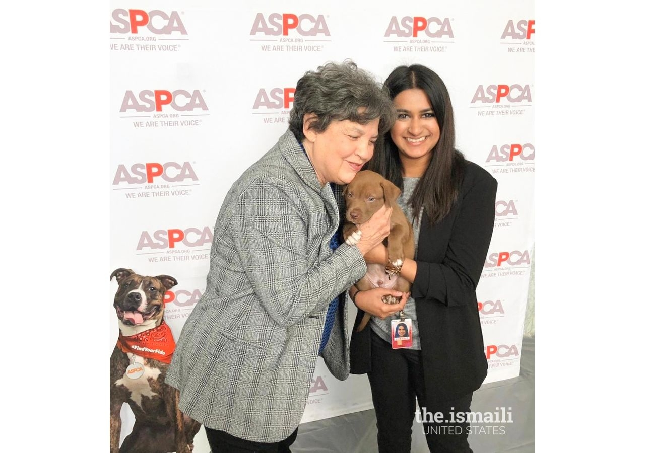 Nisha and Congresswoman Lois Frankel (FL-21) during an ASPCA event on Capitol Hill for animal rights.