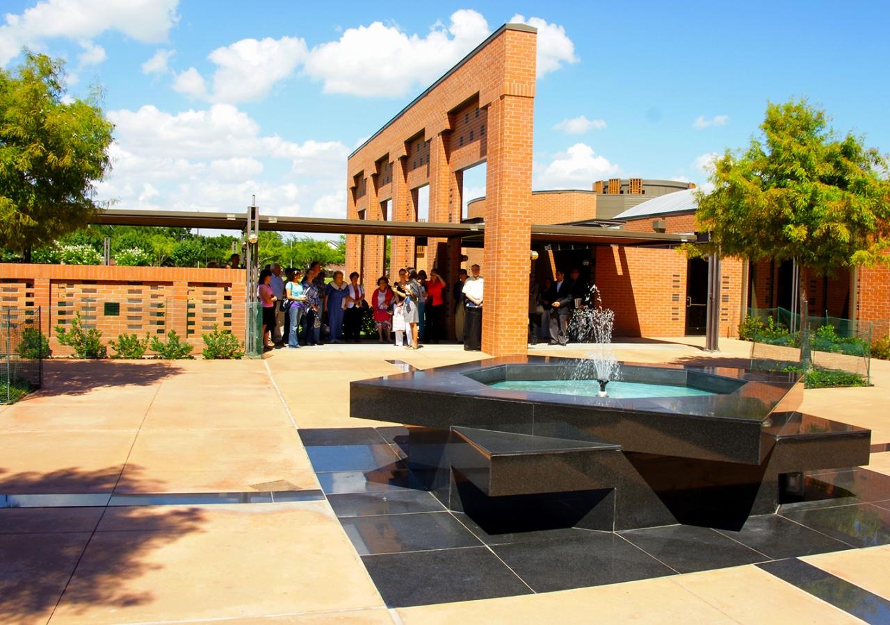 The Ismaili Jamatkhana and Center, Houston. Shiraz Khabani