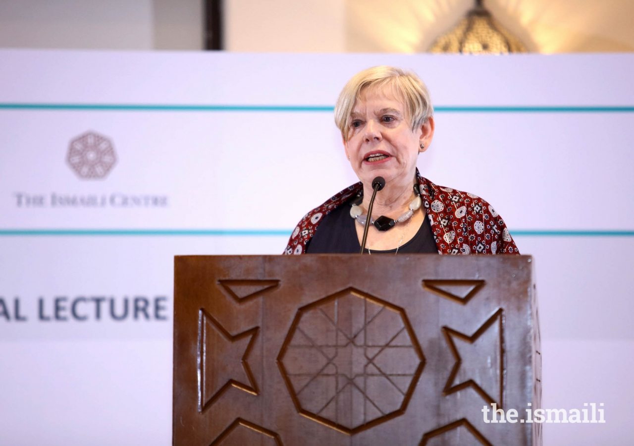 Dr. Karen Armstrong delivering a Keynote Address on Why do we need compassion in our world today?