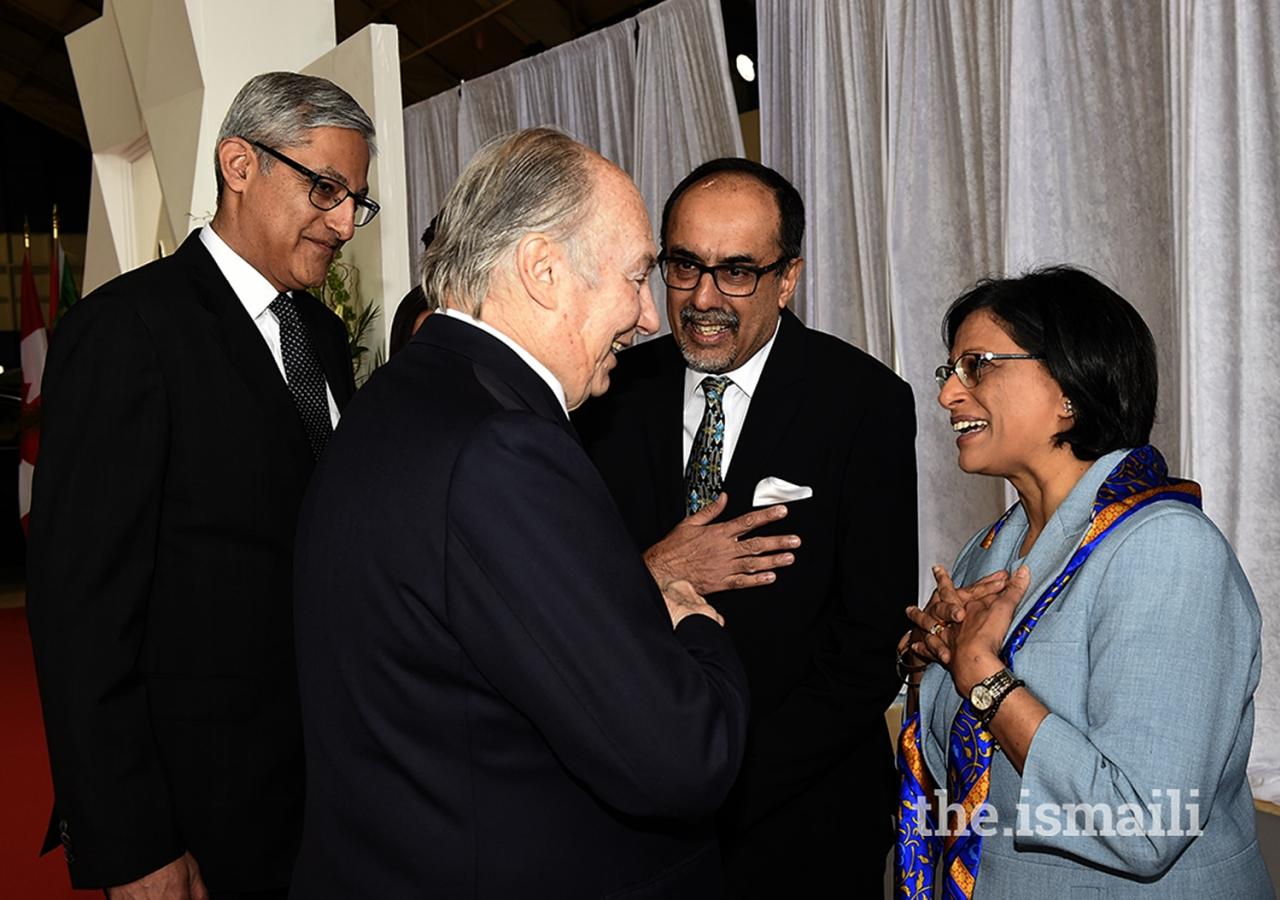 Ismaili Council for Ontario President Sheherazade Hirji bids farewell to Mawlana Hazar Imam on his departure from Ottawa.