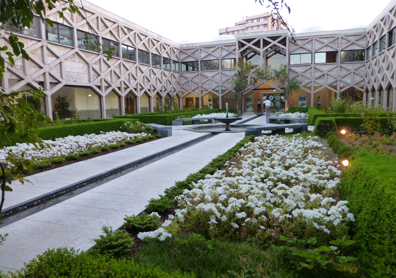 At the Ismaili Centre in Lisbon, the majority of the building's footprint is outdoors. Its gardens and fountains encourage conversation, social exchange and opportunities to host premiere events in Portugal.