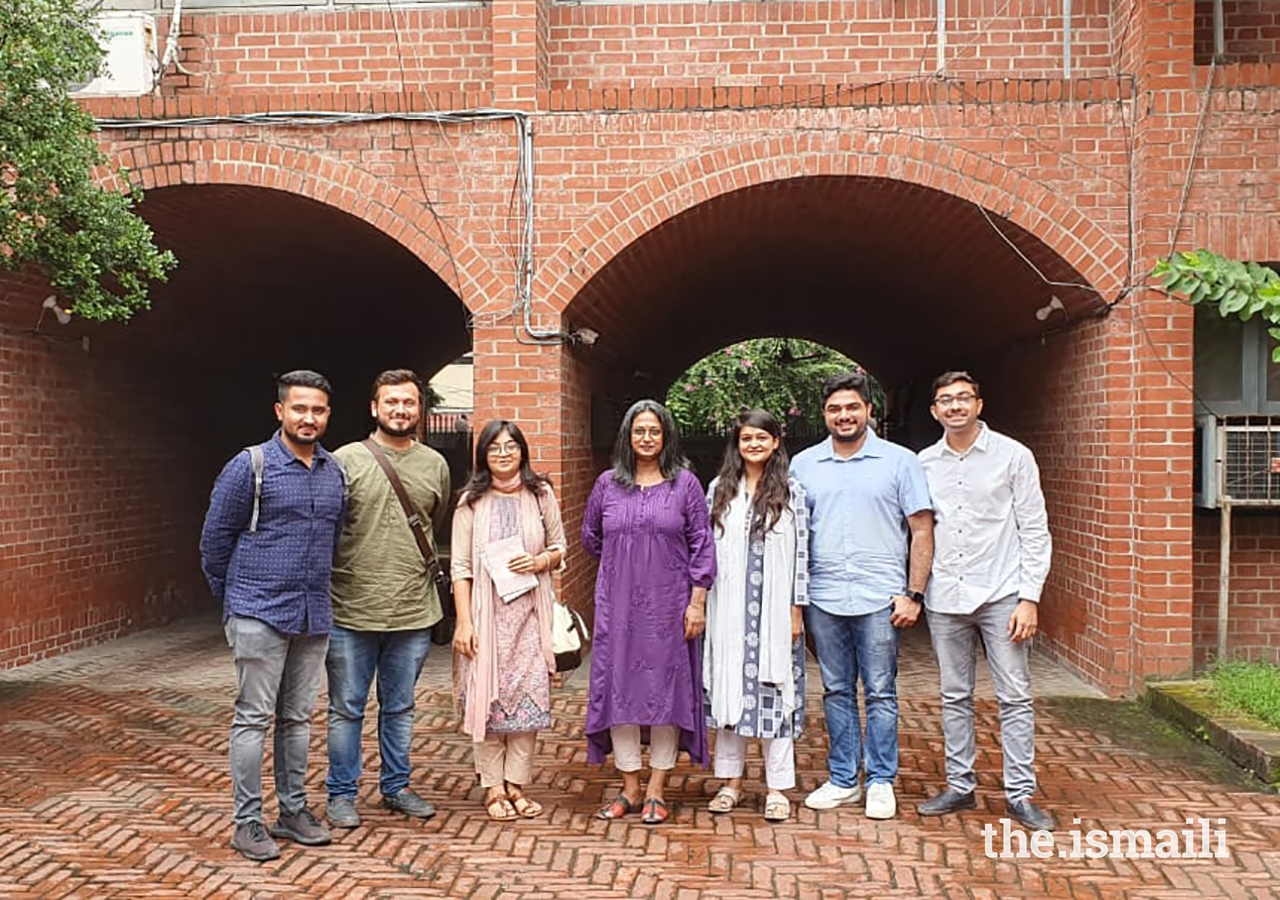 From left to right: Muizz Rupani, Raj Charaniya, Raeesa Patel, Ms Marina Tabassum, Sumaila Topan, Jiyan Pattharwalla and Asif Bhanwadia. Ms Tabassum received the Aga Khan Award for Architecture during the 2016 award cycle for her design of the Bait ur Rouf Mosque. She also served as a Member of the Steering Committee during the 2019 award cycle.
