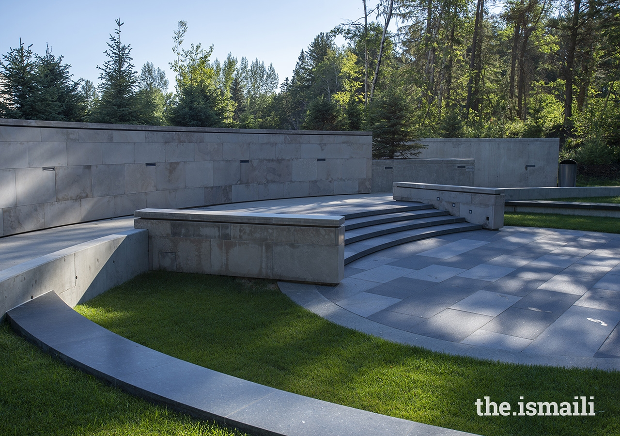The Aga Khan Garden amphitheatre offers a space for events and programming.