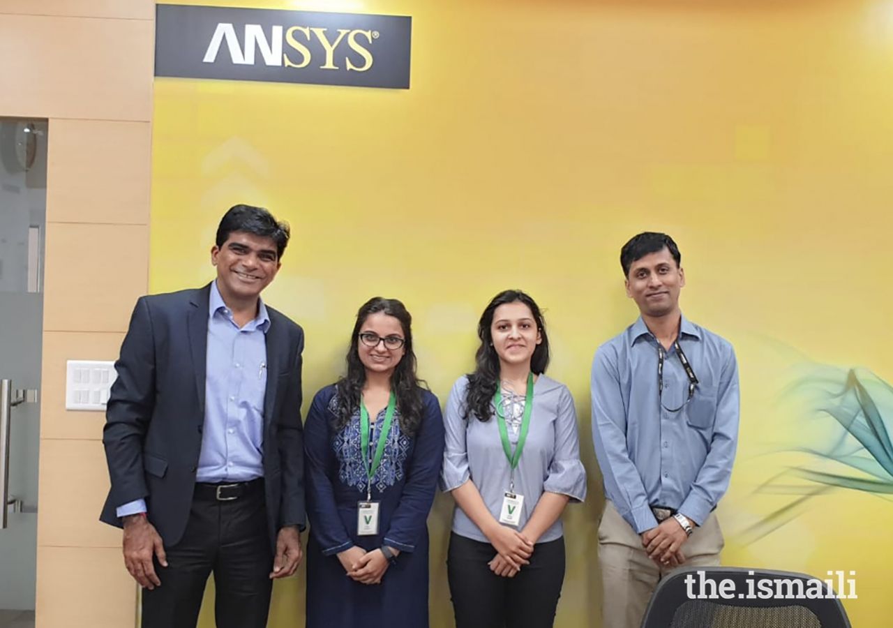 Tamanna Pattharwala with her mentor Rafiq Somani, Area Vice President of ANSYS, Inc. During her time at RFS, Tamanna received a Pratibha Award for exceptional women engineers.