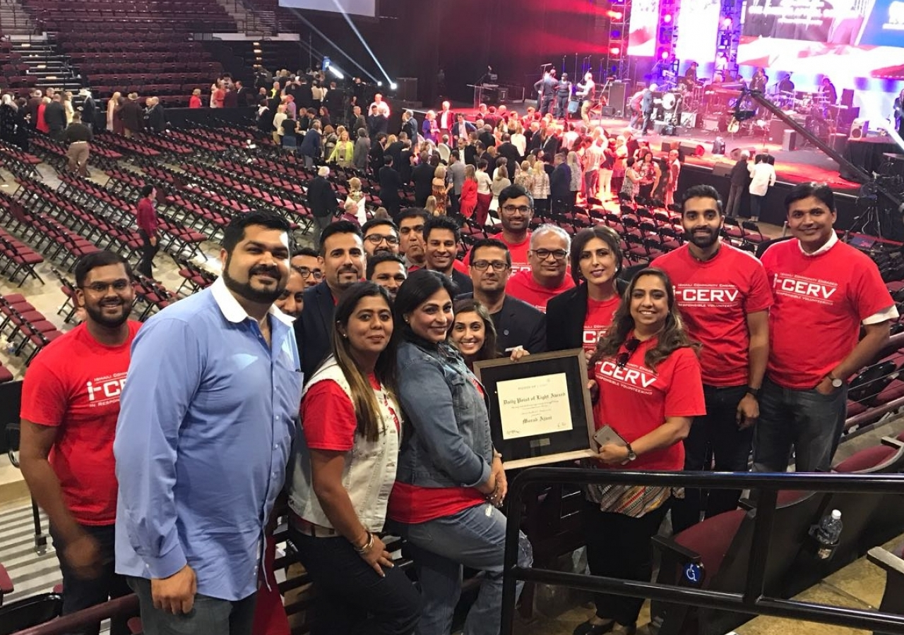 Some of the Houston I-CERV members who assisted with Hurricane Harvey at the One America Appeal concert