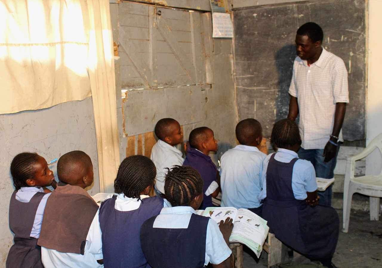 An estimated one quarter of primary-level children in Kenya drop out of school, often to earn income for their families. Courtesy of Bamba