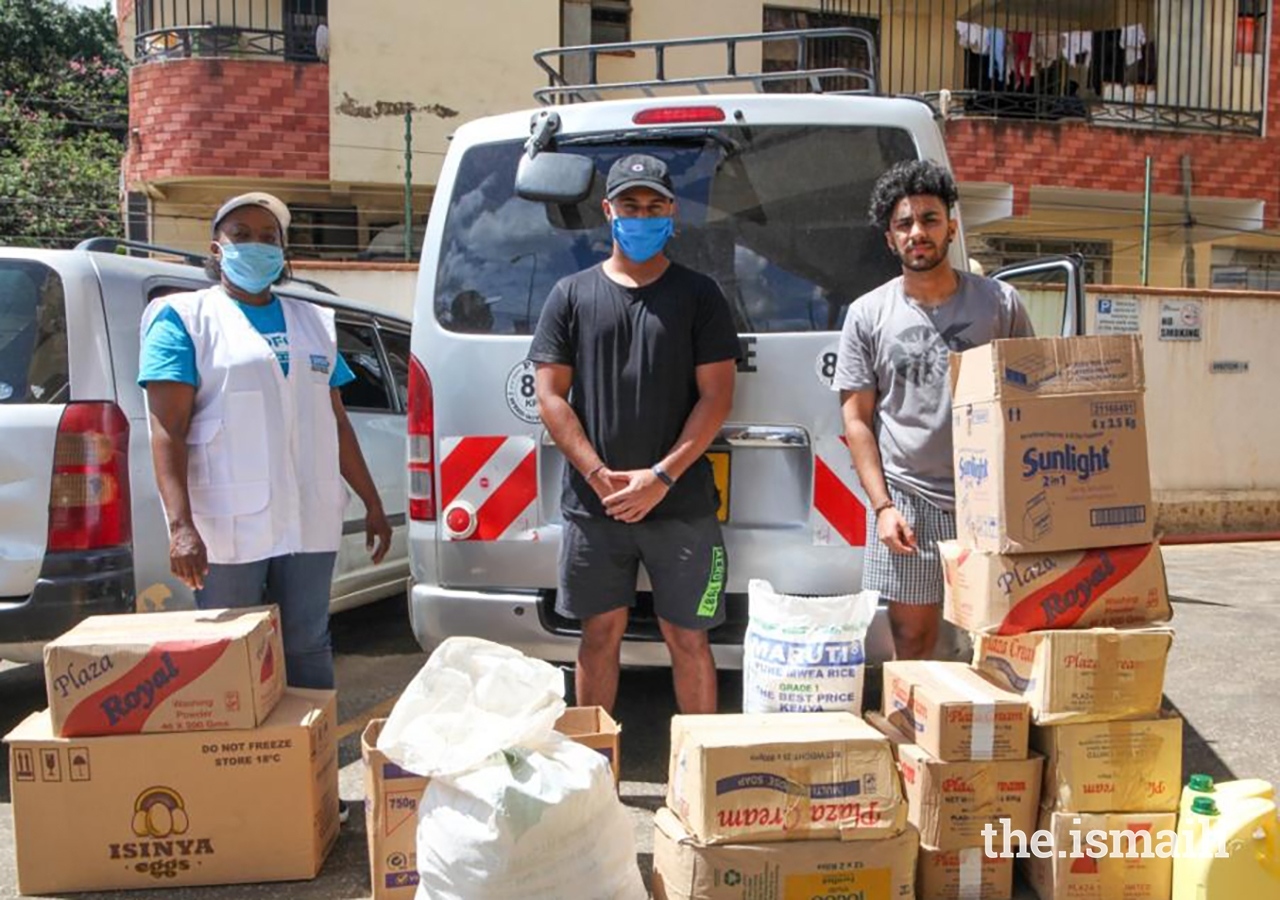 Qaiz and Jahazair Sumar deliver basic supplies to those in need.