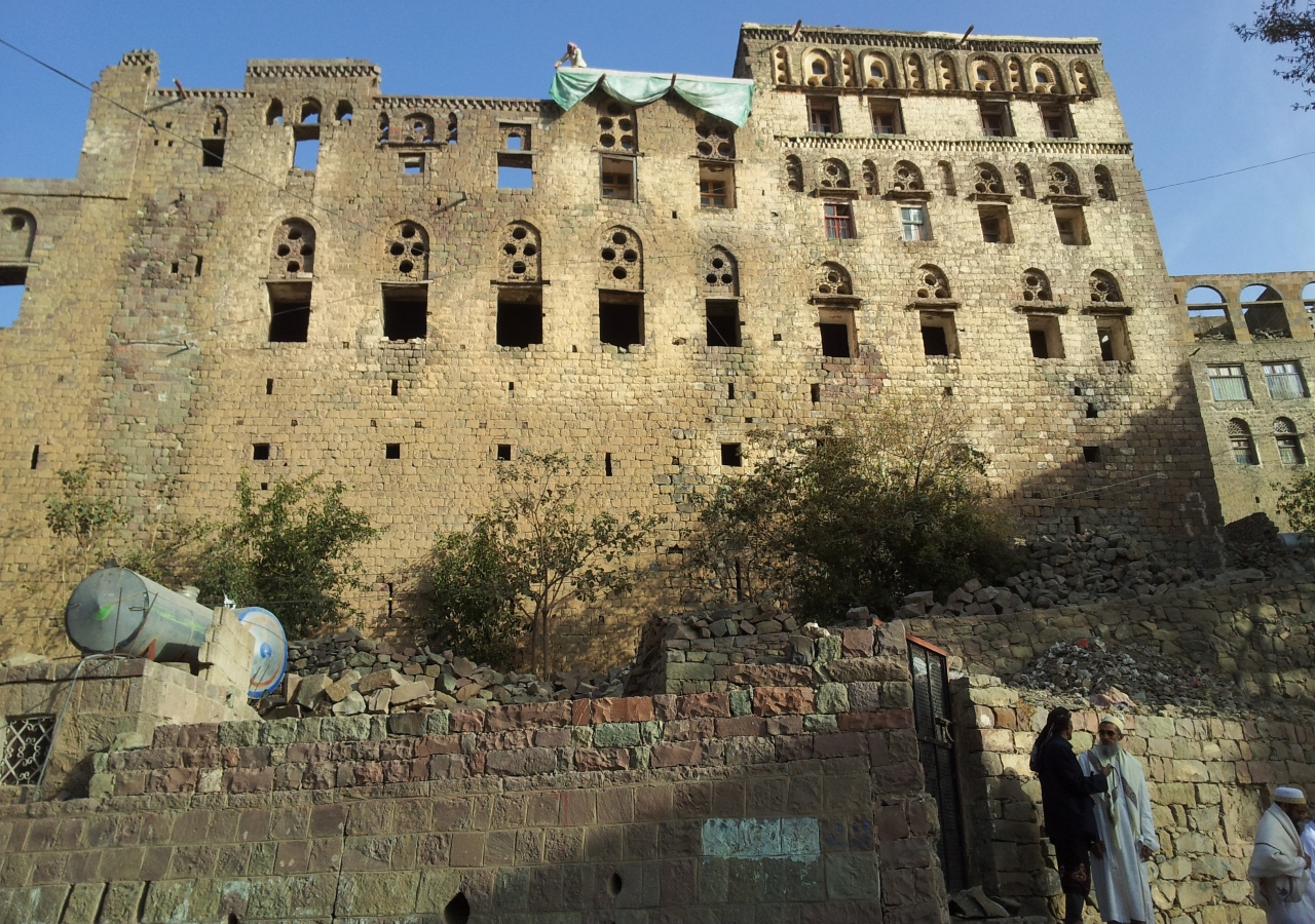 The remains of Queen Arwa al-Sulayhi's palace in in Jibla, Yemen