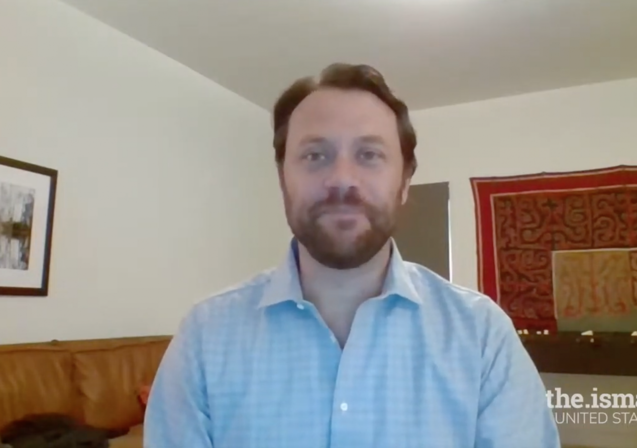 Jason Carter, Chairman of the Carter Center, discussing the importance of advancing human rights and quality of life, as a part of the Ismaili Jamatkhana and Center virtual programming series.