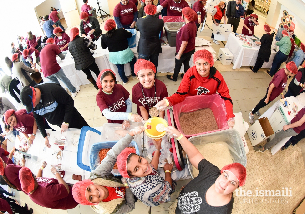 60,000 meals were prepared by volunteers in Atlanta for the I-CERV Day of Service.