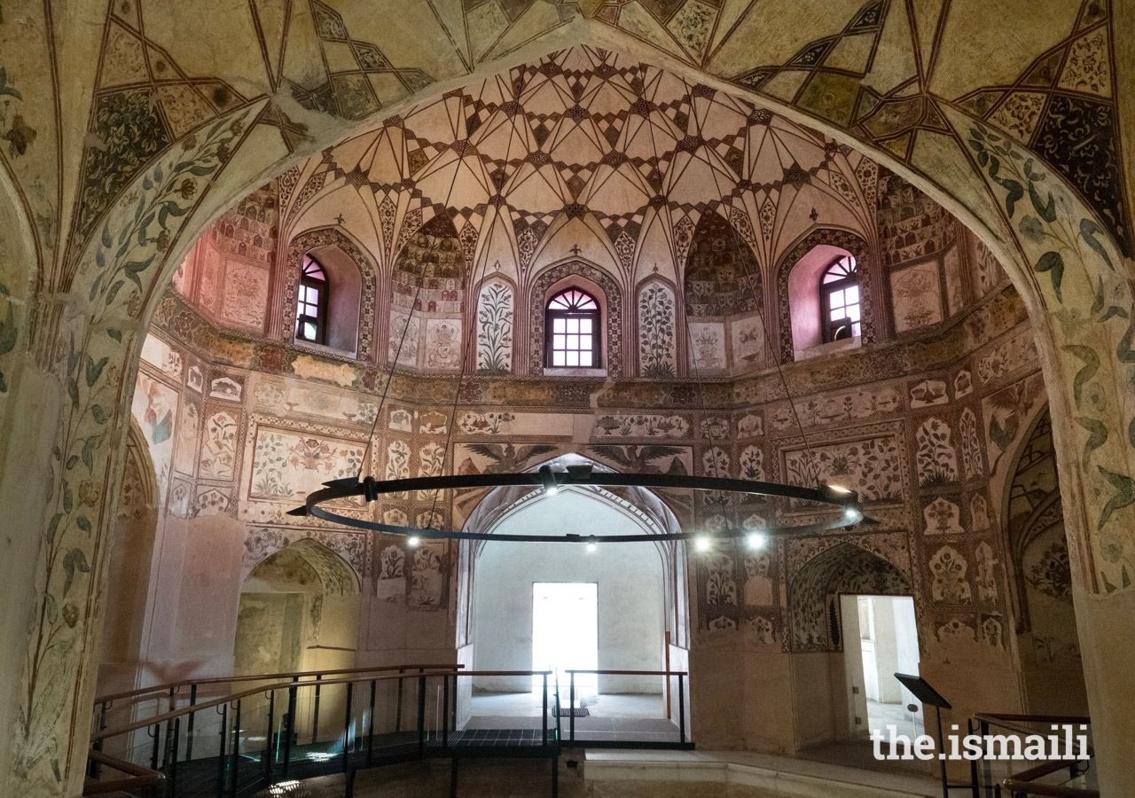 Inside the restored 17th century Mughal period Shahi Hammam – a public bathhouse in Delhi Gate, Lahore.