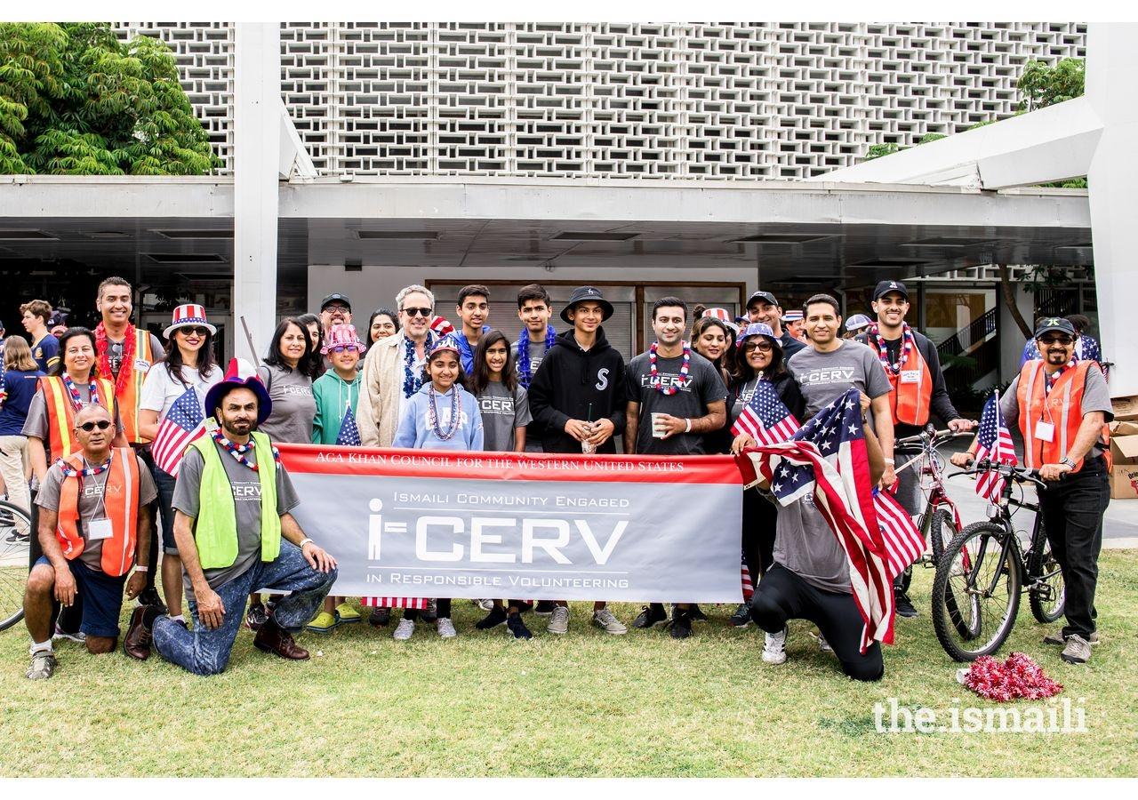 The Los Angeles I-cerv team joins California Assemblyman Richard Bloom at Santa Monica's 4th of July Parade.