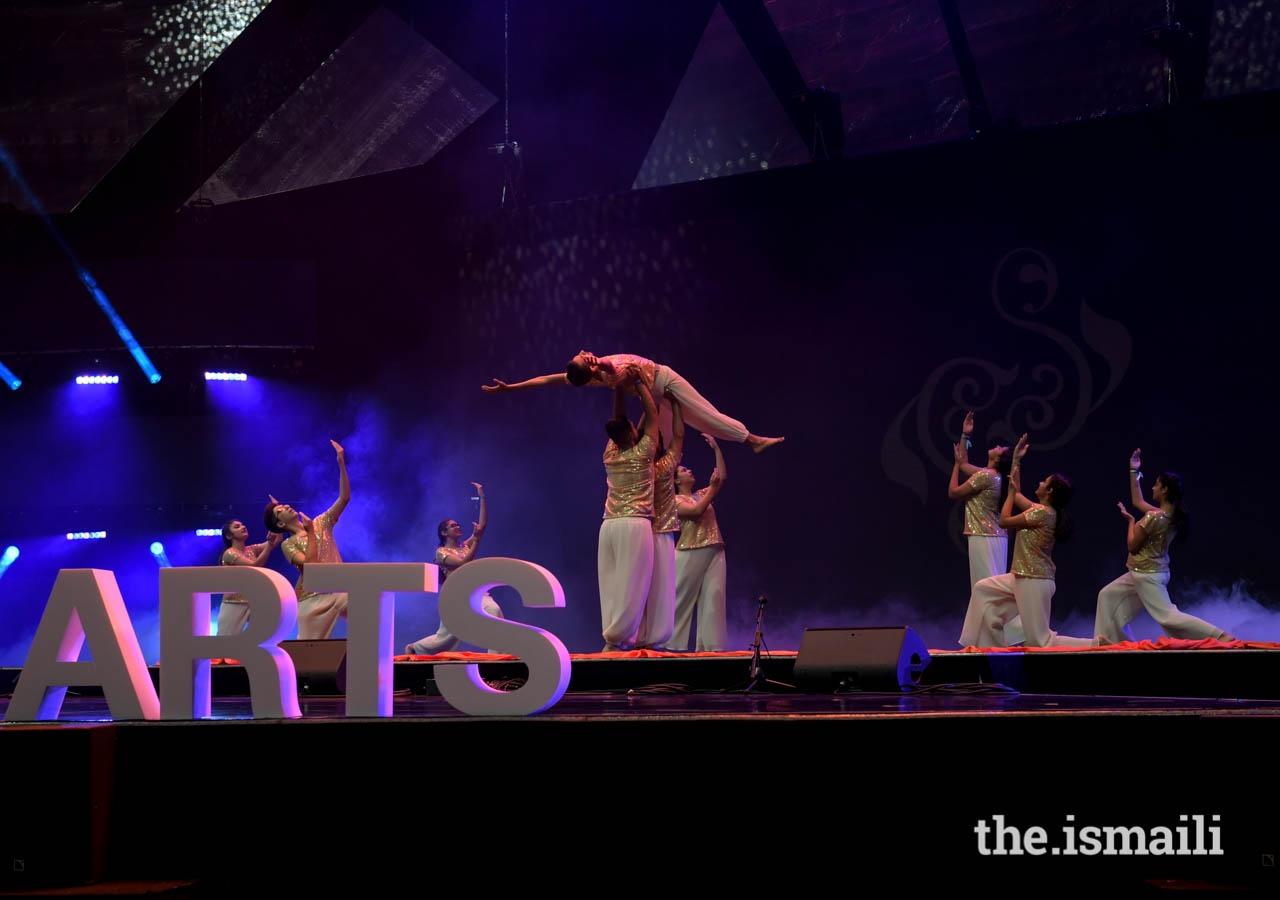 The Dream Team representing the UAE danced with stunts.