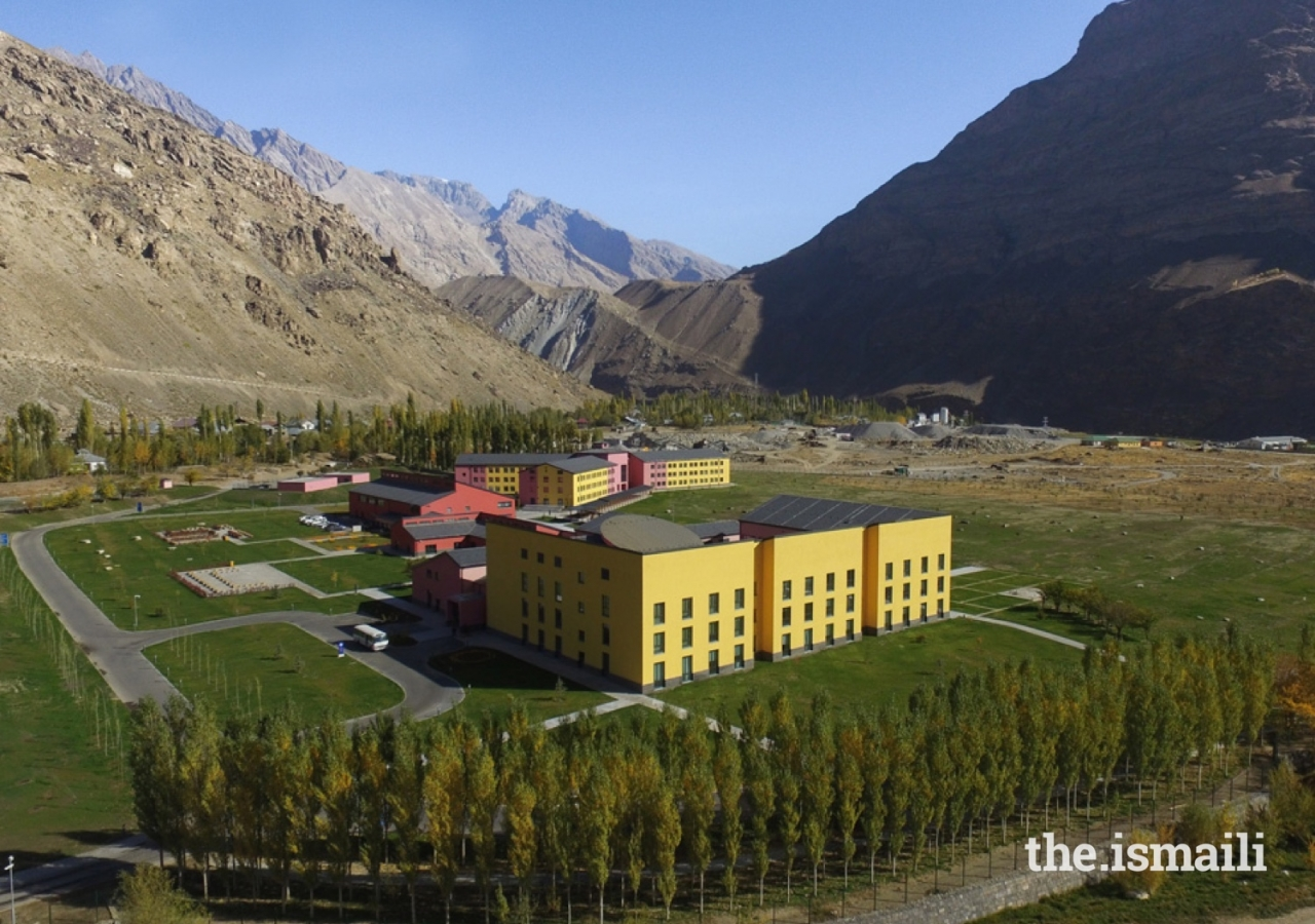 A bird's-eye view of the University of Central Asia's Khorog Campus in Tajikistan.