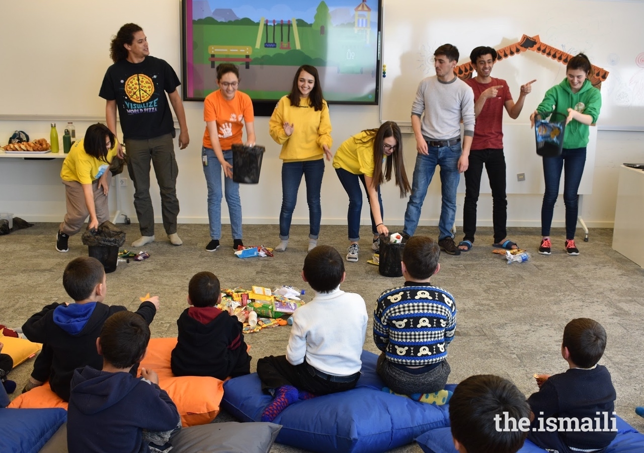Members of UCA's Green Community Club have encouraged young children to learn about ecology and care for the environment.