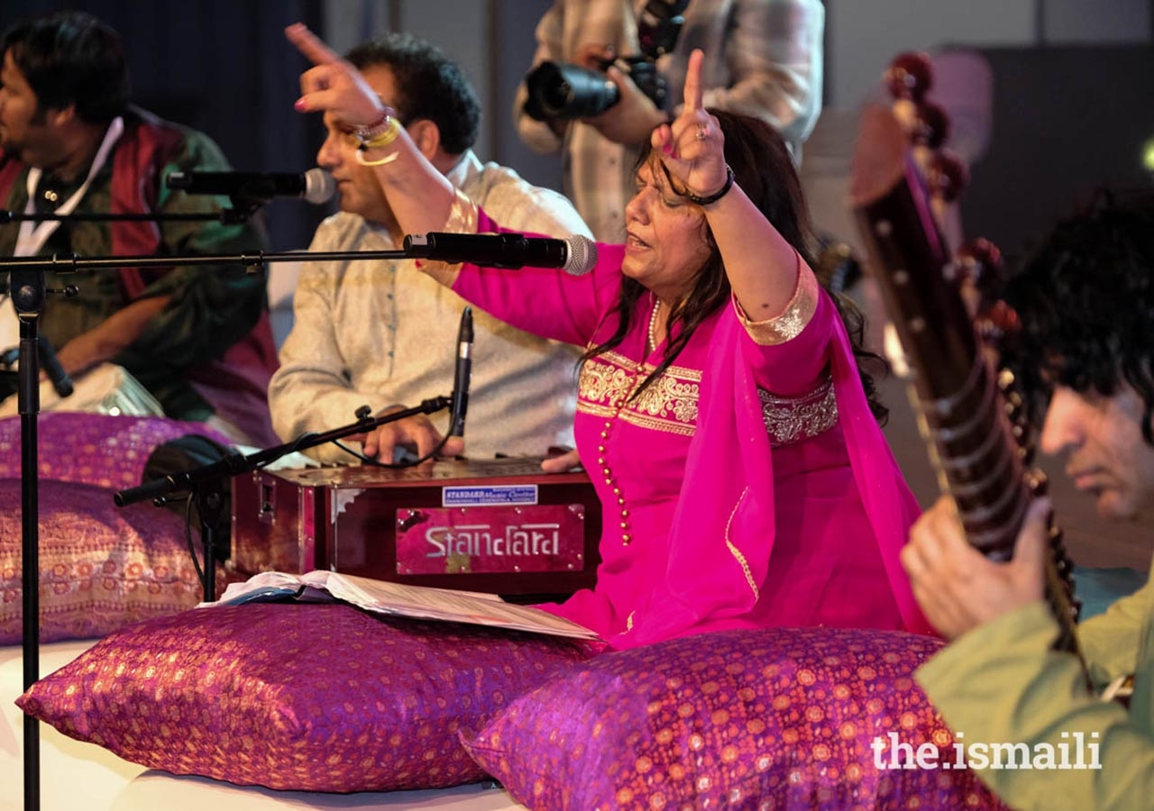 Artists performed at dandia raas on Day 3 of the Diamond Jubilee Celebration.