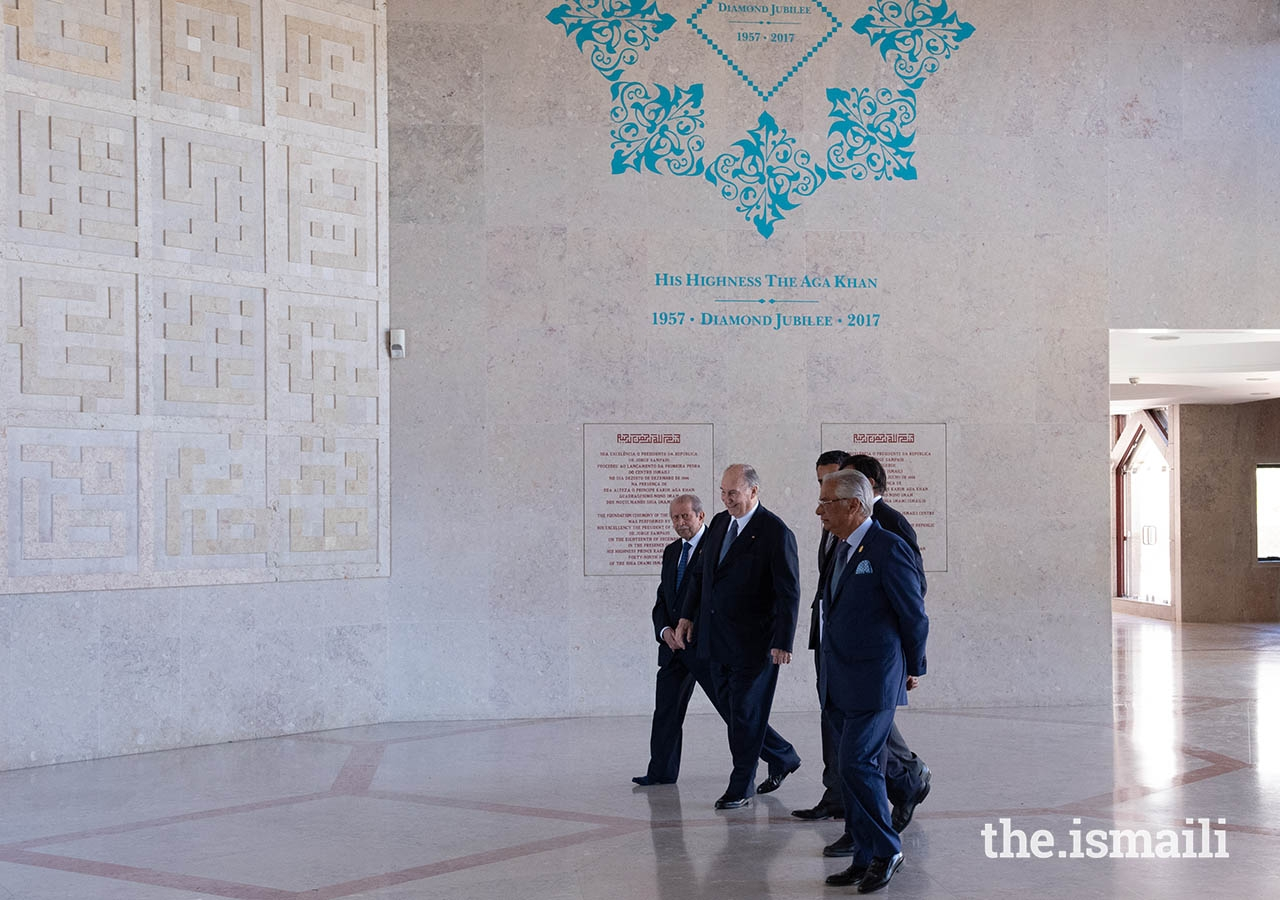 Mawlana Hazar Imam departs the Ismaili Centre Lisbon after meeting with the Portugal jurisdiction Jamat.