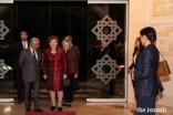 Vaira Vike-Freiberga, President of WLA-Club de Madrid, and Maria Elena Agüero, Secretary General of the WLA-Club de Madrid, are welcomed to the Ismaili Centre Lisbon by Nazim Ahmad, Diplomatic Representative of the Ismaili Imamat.