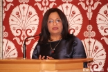 """Professor Mona Siddiqui delivers the annual lecture commemorating Milad-un-Nabi on the topic of """"Hospitality, Global Conflicts and Migration: From Divine Imperative to Social Conscience."""""""