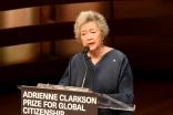 Adrienne Clarkson introduces Mawlana Hazar Imam, recipient of the inaugural Adrienne Clarkson Prize for Global Citizenship. Vazir Karsan