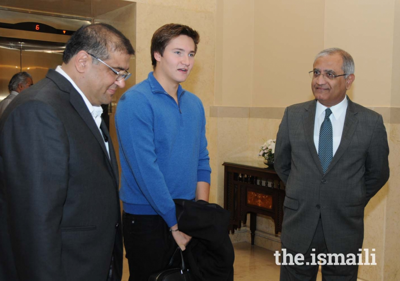 Prince Aly Muhammad at Islamabad Serena Hotel before departing for Gilgit
