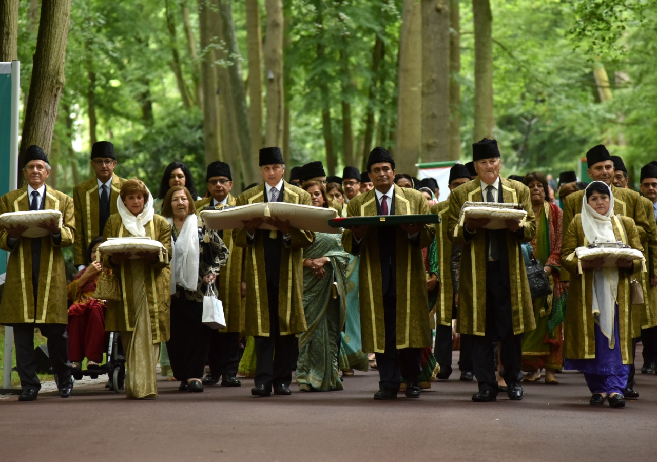 The Diamond Jubilee procession includes men and women from the Ismaili community who have served the Imam and the community in senior roles over the course of the past 60 years.