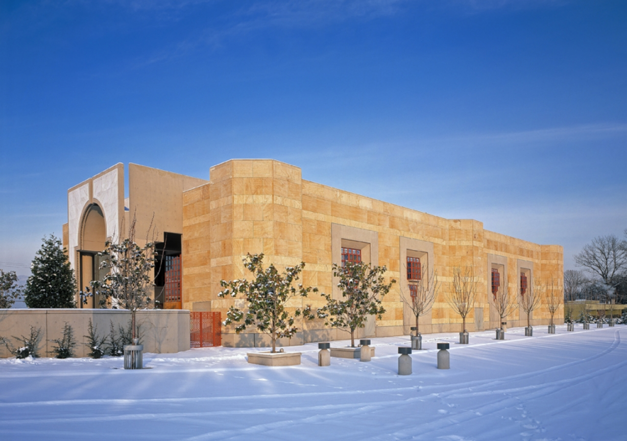 A winter view of the Ismaili Centre, Vancouver from the south-west.
