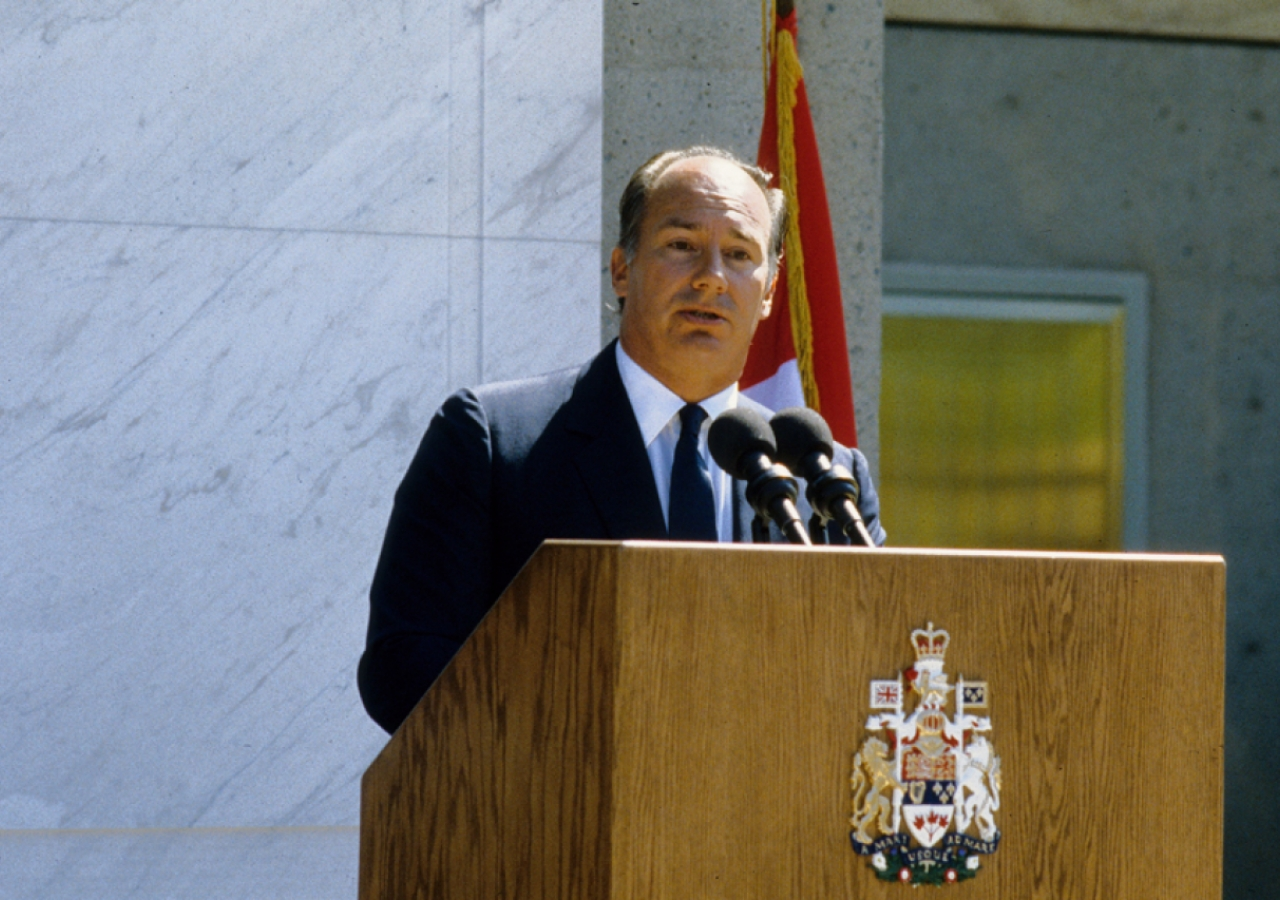 Mawlana Hazar Imam speaks during the Opening Ceremony of the Ismaili Centre, Vancouver.
