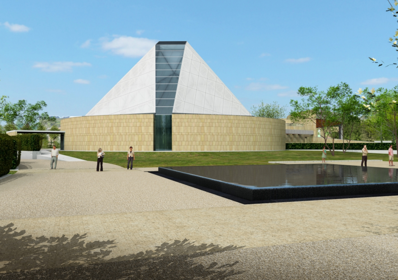 Artist rendering of the Ismaili Centre, Toronto.