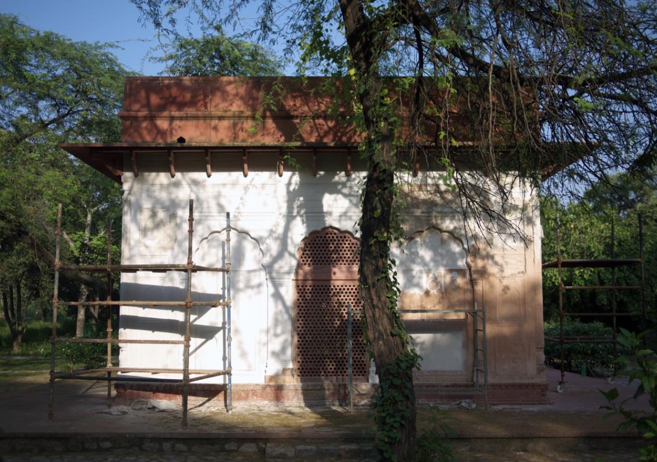 The Garden Pavilion at Sunder Nursery is also undergoing restoration.