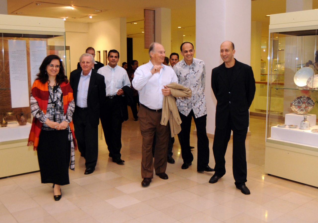 Mawlana Hazar Imam visits the Islamic Arts Museum Malaysia accompanied by Tuan Syed Mohamad Albukhary, Director of the Museum, Tan Sri Syed Mokhtar Albukhary, Chairman of the Albukhary Foundation, Dr Heba Nayel Barakat, Head of Curatorial Affairs at the M