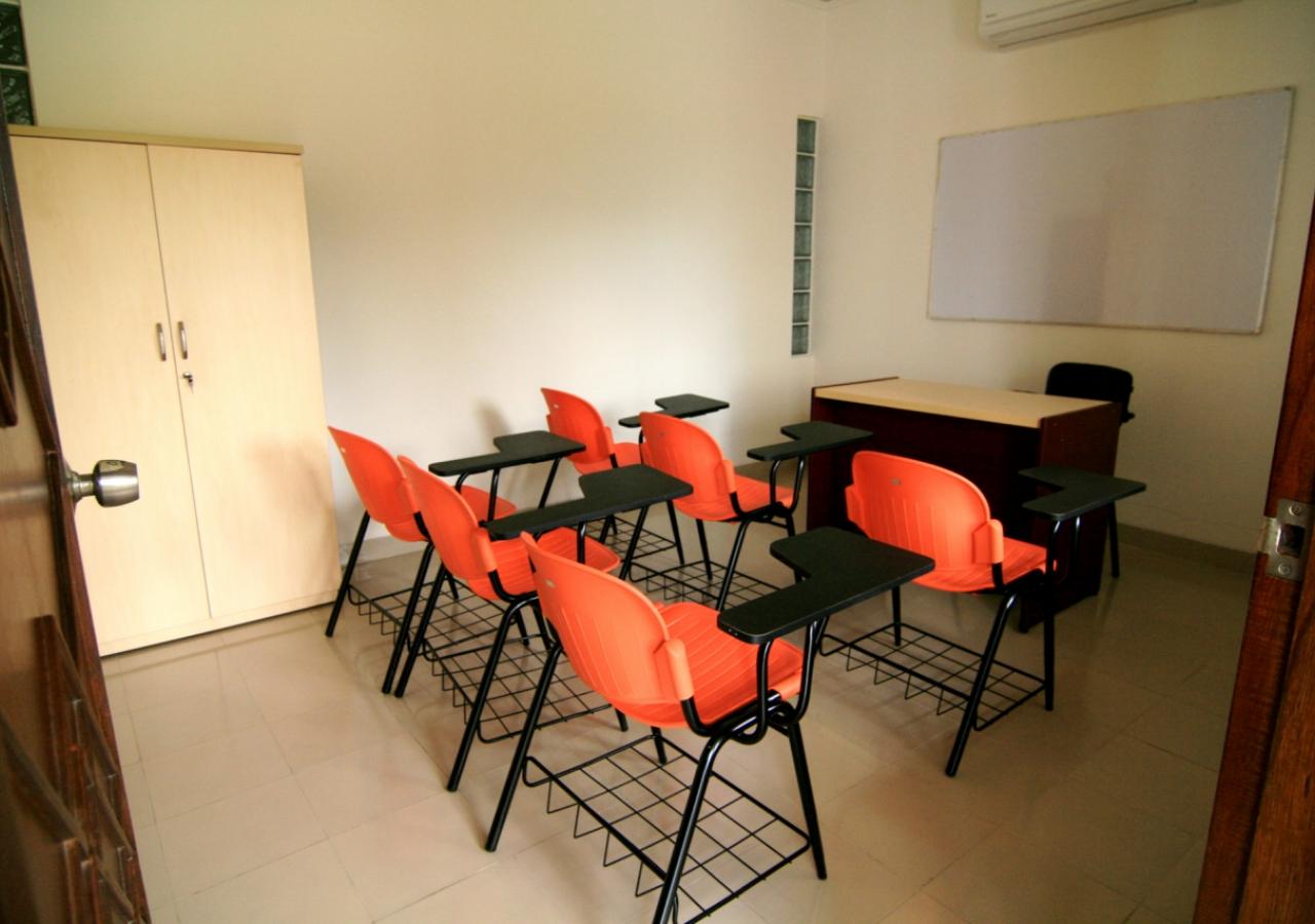 A classroom at the Dhaka Ismaili Jamatkhana and Centre.