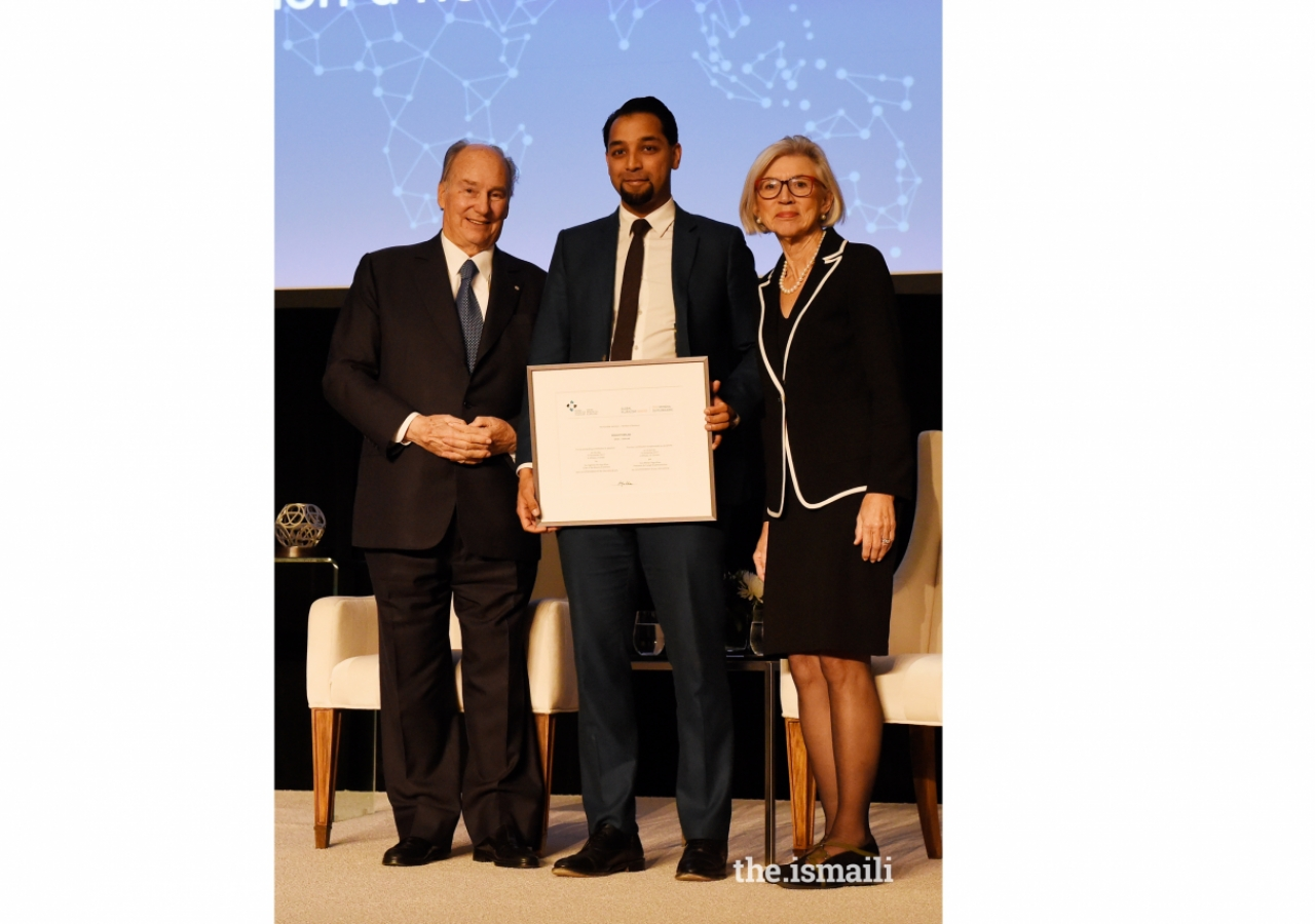 BeAnotherLab, represented by Daanish Masood, receives an Honourable Mention, for using Virtual Reality technology to help reduce implicit bias and promote empathy across differences.