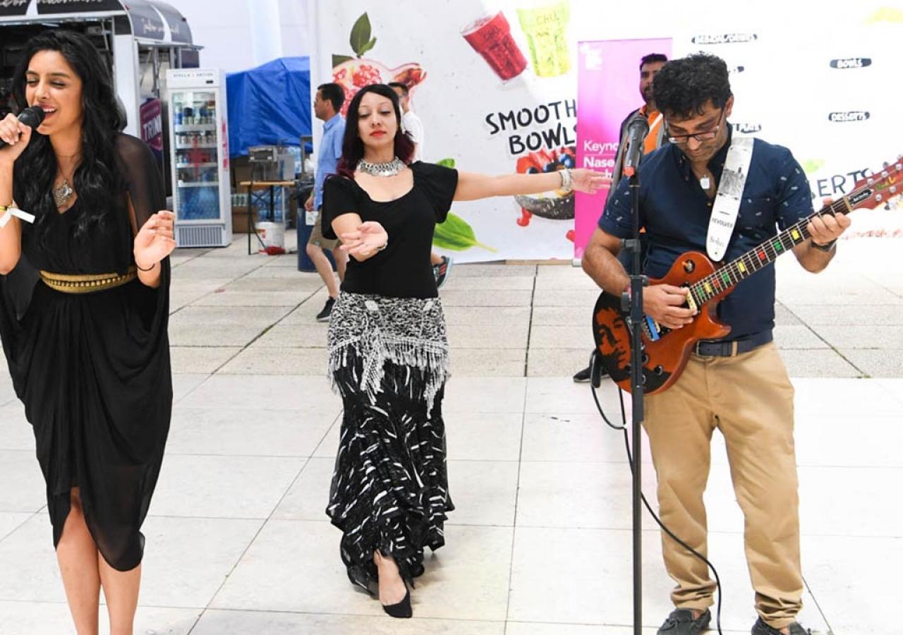 A surprise pop-up performance is held at Feira Internacional de Lisboa 1.