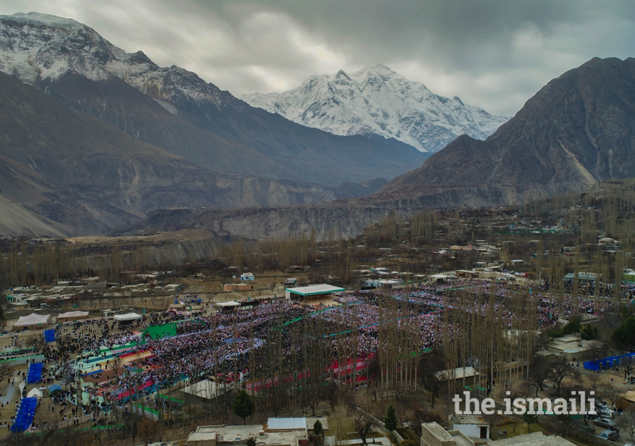 Bird's-eye view of the Darbar at Aliabad, Hunza