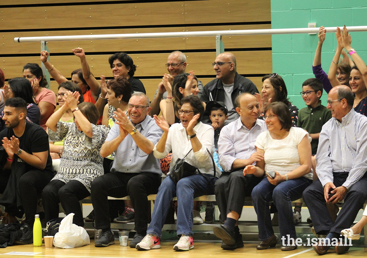 Spectators young and old celebrate the Netball competition at the European Sports Festival 2019.