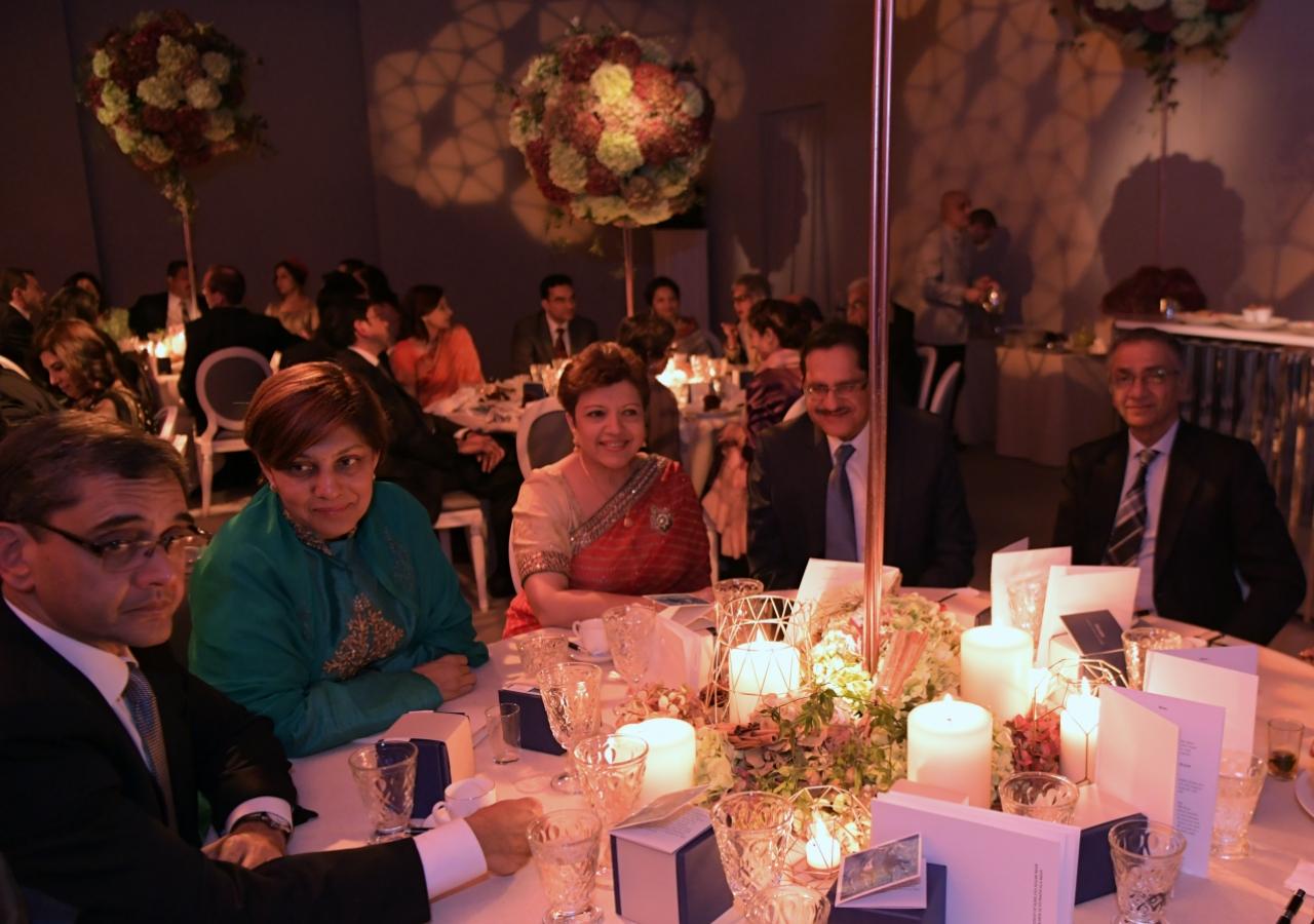 Jamati and institutional leaders attend the celebration of Mawlana Hazar Imam's 80th birthday. Photo: Zahur Ramji