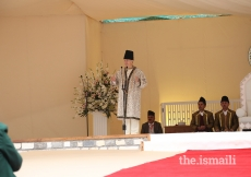 Mawlana Hazar Imam addresses the Jamat during the Darbar at Booni, Upper Chitral