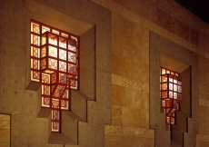 An outside view of the lantern-like windows of the Ismaili Centre, Vancouver.