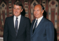 Mawlana Hazar Imam together with Canadian Prime Minister Brian Mulroney.