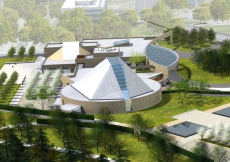 An artist-rendering of the Ismaili Centre, Toronto.