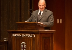 Mawlana Hazar Imam delivers the 88th Ogden Memorial Lecture in International Affairs at Brown University.